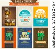 Template, banner or flyers set for Big Sale with attractive discount offers.  - stock vector