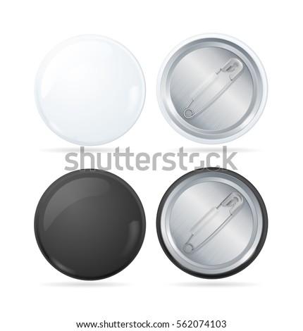 Template Color Blank Circle Button Badge Stock Vector 563769406 ...