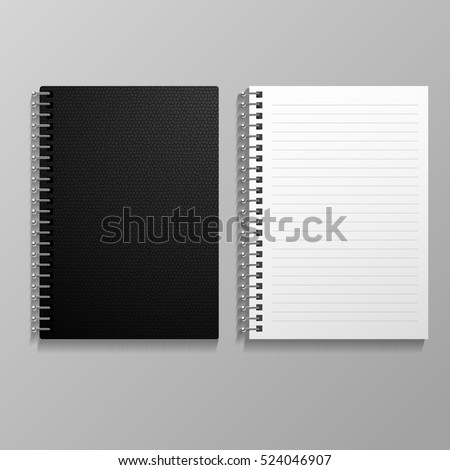 Template  branding and corporate identity realistic spiral notepad blank mockup for design eps 10