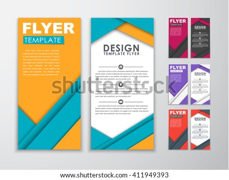 Poster Design Template Set Abstract Modern Stock Vector
