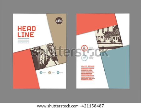 Template Design Layout Brochure Flyer Geometric Stock Vector