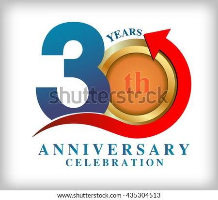 Template Logo 30th Anniversary Vector Illustration Stock Vector ...