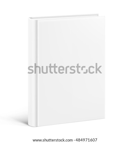 Template of blank cover book on white background. Vector illustration. It can be used for promo, catalogs, brochures, magazines, etc. Ready for your design.