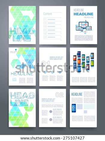 Applications Infographic Concept Flyer Brochure Design Stock ...