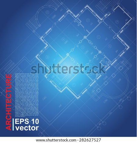 Virtual electronic streetabstract illustration sense for Architectural design elements