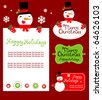 Templates for  Christmas greeting card, gift tag, label or sticker.  vector illustration - absolutely edited - stock vector
