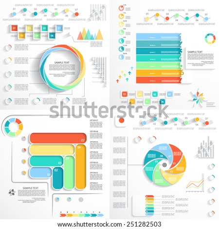 Templates for presentation, web elements, charts and graphs