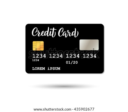 Templates of credit cards design with  Modern calligraphy. Isolated vector Hand drawn lettering credit card