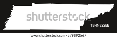 Modern Map Tennessee Usa Stock Vector Shutterstock - Tennessee usa map