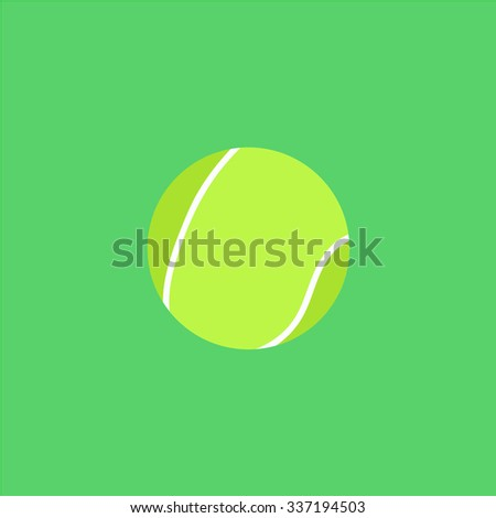 Tennis Ball. Icon Vector.
