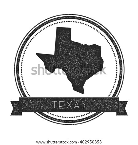 Texas Vector Map Outline Vintage Sunburst Stock Vector - Us map texas vector