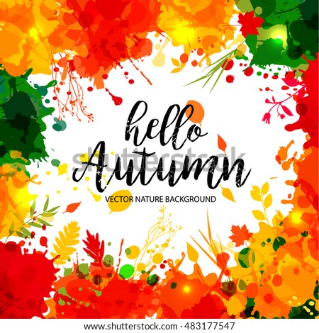 Text Fall Festival Paper Style On Stock Vector 486102190 ...