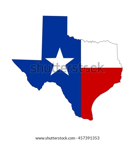 texas state map flag stock vector 528437083 - shutterstock