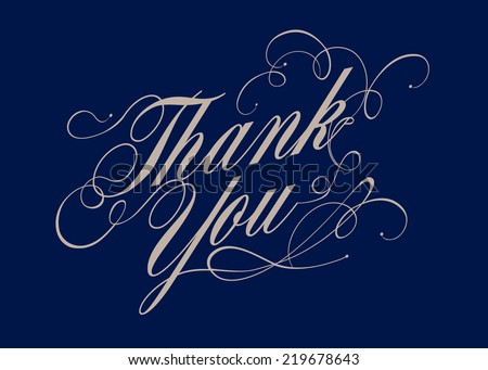 thank you calligraphy vector/illustration
