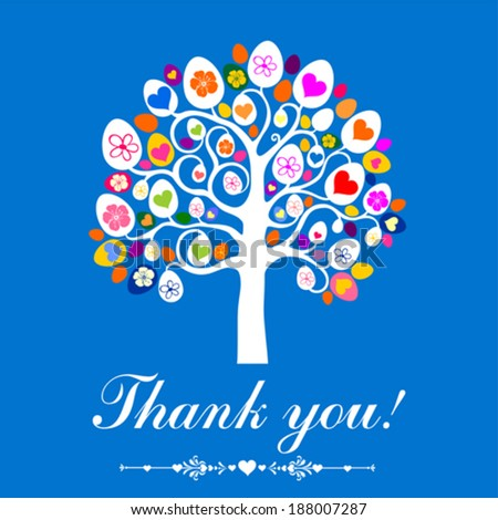 Easter Egg Tree Vintage Card Vector Stock Vector 374091217 ...