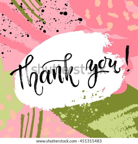 Thank You Card Thanks Vector Isolated Vector 451316011 – Thanks Card Words