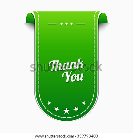 Thank You Green Vector Icon Design