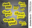 THANK YOU. Sticker collection. Vector illustration (eps10). - stock photo