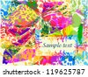 The art postcard - stock vector