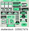 The big set of tickets. A vector. - stock vector