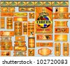 The big set of tickets gold. A vector. EPS 10 - stock vector