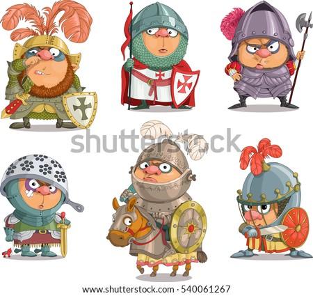 Cartoon Vector Set Funny Gladiators Roman Stock Vector ... Traditional African Fashion Headdress