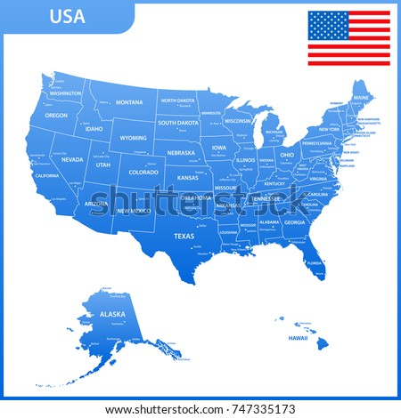 The Detailed Map Of The Usa With Regions Or States And Cities Capital United