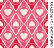 The Endless Heart shape vector seamless pattern for printing - stock vector