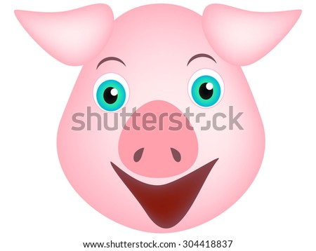 The head of a pig.