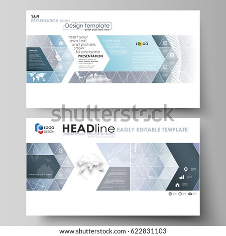 Business Templates Hd Format Presentation Slides Stock Vector ...