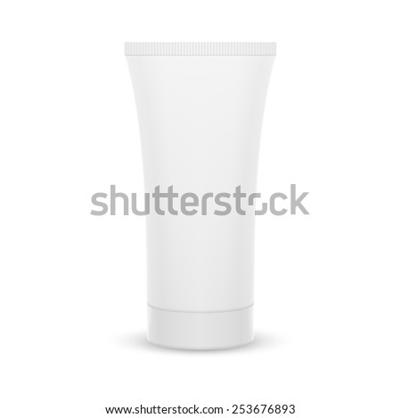 The plastic tube. Packing for cream, gel, toothpaste, cosmetics. Mock up.