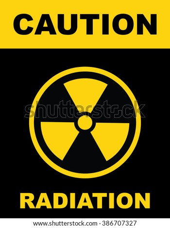 The radiation icon . Radiation symbol . Vector illustration