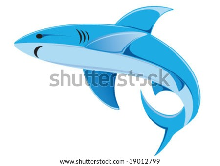 The shark looks great in blue