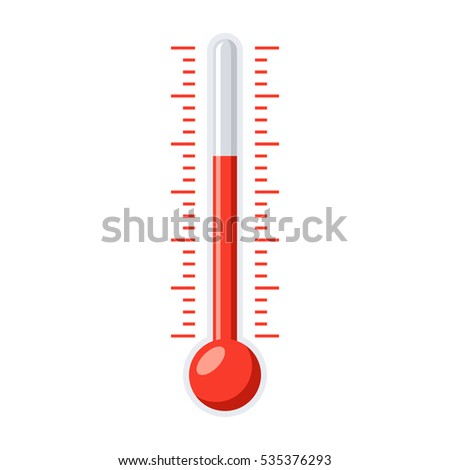 The thermometer vector illustration in flat style