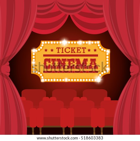 theater ticket cinema golden