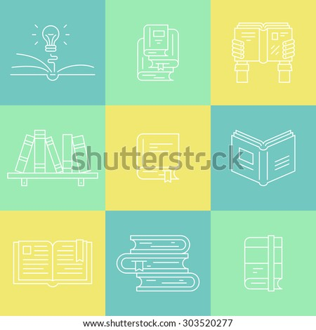 Colorful Set Logotypes University Book Club Stock Vector 308803541