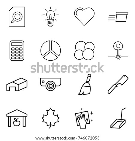 textile industry outline icons set cloth stock vector