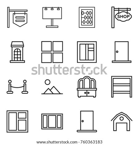 Broken Windows Icon Set Vector Glass 444834349 on home interior wall panels