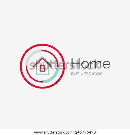 Love house logo stock vector 415385398 shutterstock for Modern cleaning concept