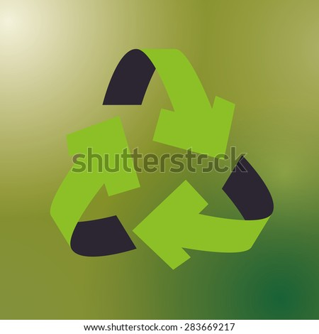 Think green design over green background, vector illustration