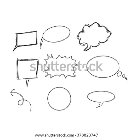 Thinking and Talking cloud. Vector