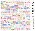 THINKING. Word collage on white background. Illustration with different association terms. - stock photo