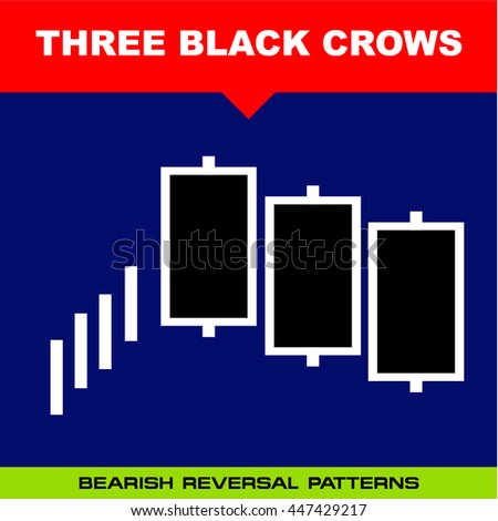 Three black crows stock chart
