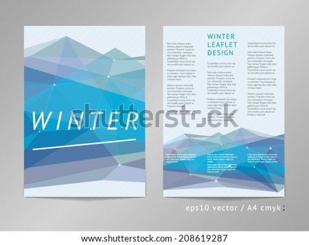 Threecolumn double sided vector leaflet brochure stock for Two sided brochure template