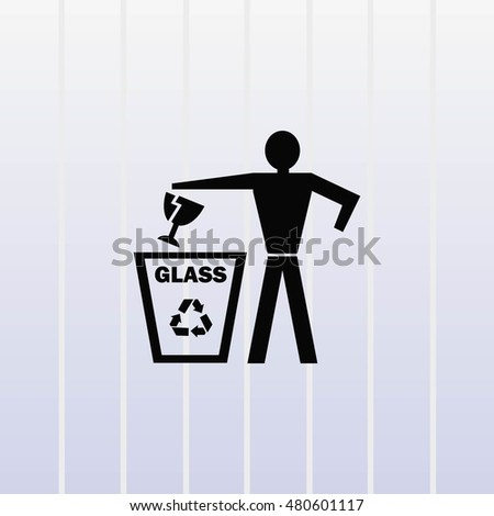 Throw away the trash icon, recycle