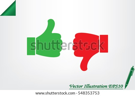 thumb up, thumb down  vector illustration eps10. Isolated badges for website or app - stock infographics