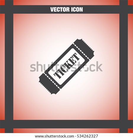 Ticket sign vector icon. Coupon sign. Movie or theater symbol.