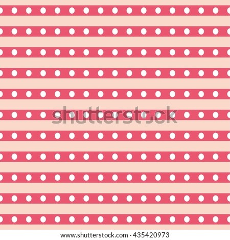 Tile vector pattern with white polka dots and stripes