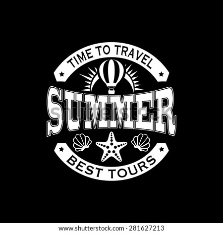 Time to travel - summer - best tour retro emblem