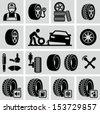 Tires icon - stock